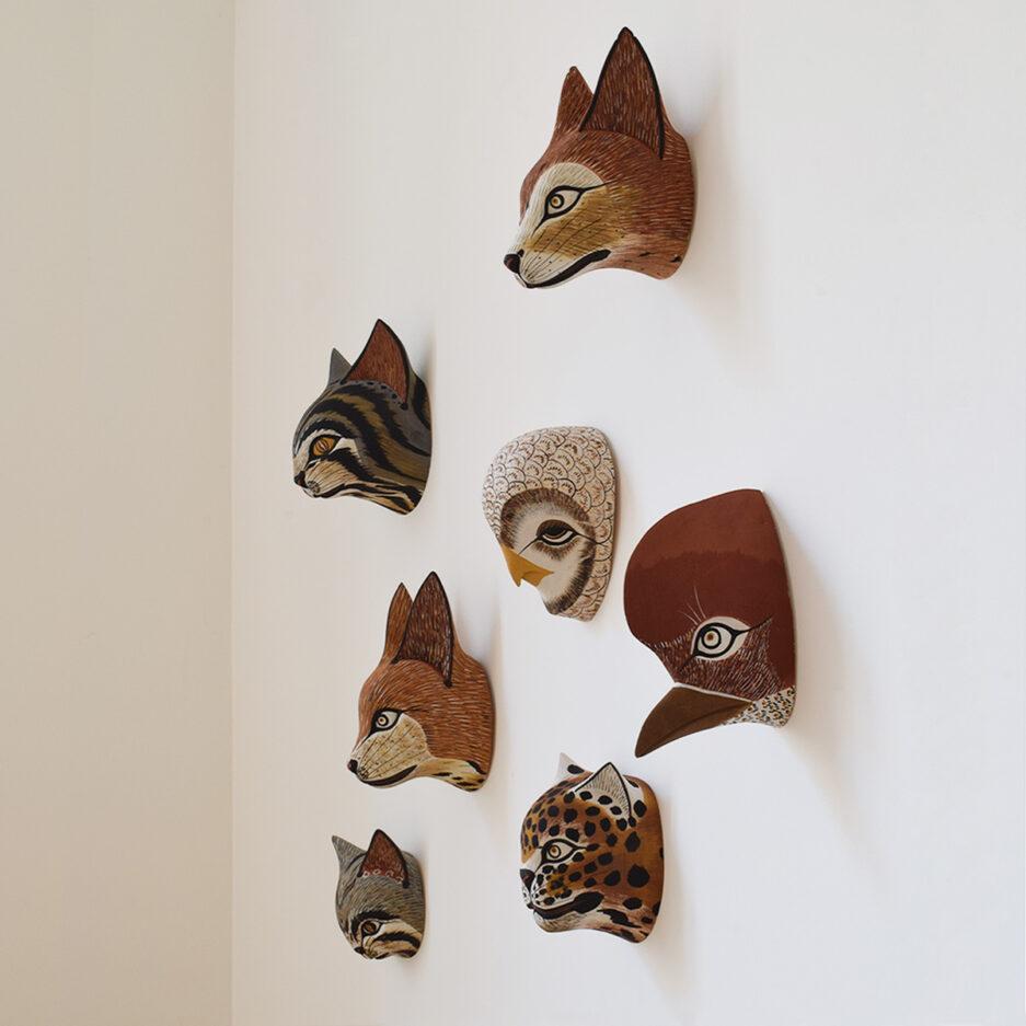 Trophée muraux animaux en bois Finca Home