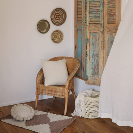 Mini tapis en laine marron Finca Home