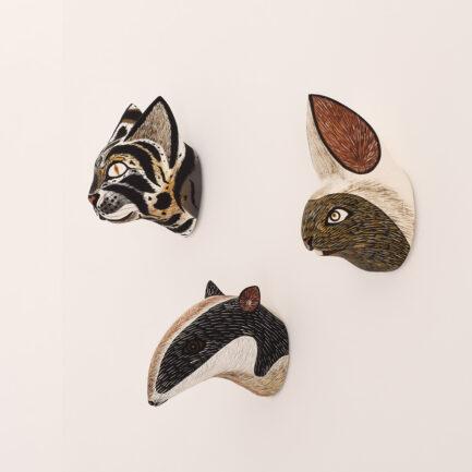 Trophées muraux animaux en bois Finca Home