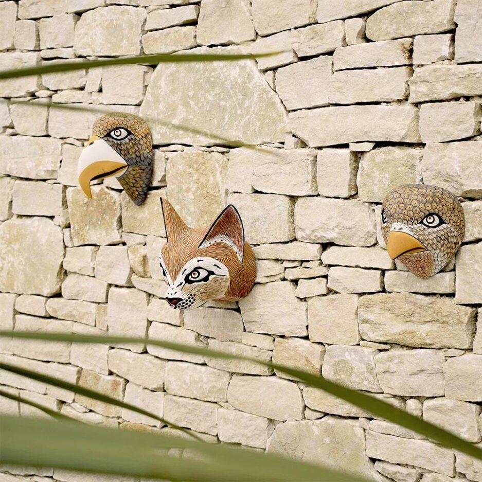 Déco murale trophée animaux en bois Finca Home