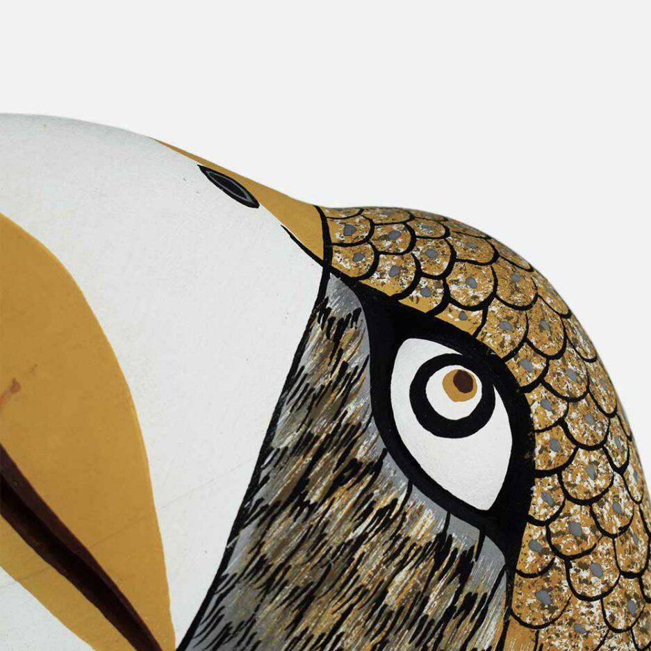 Trophée mural en bois aigle Finca Home