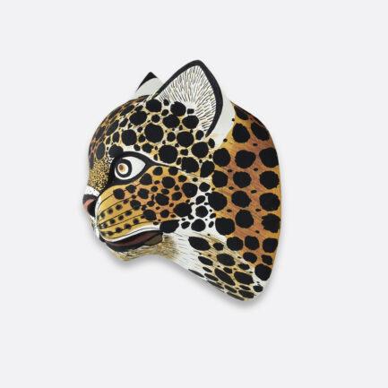 Trophée mural en bois jaguar Finca Home