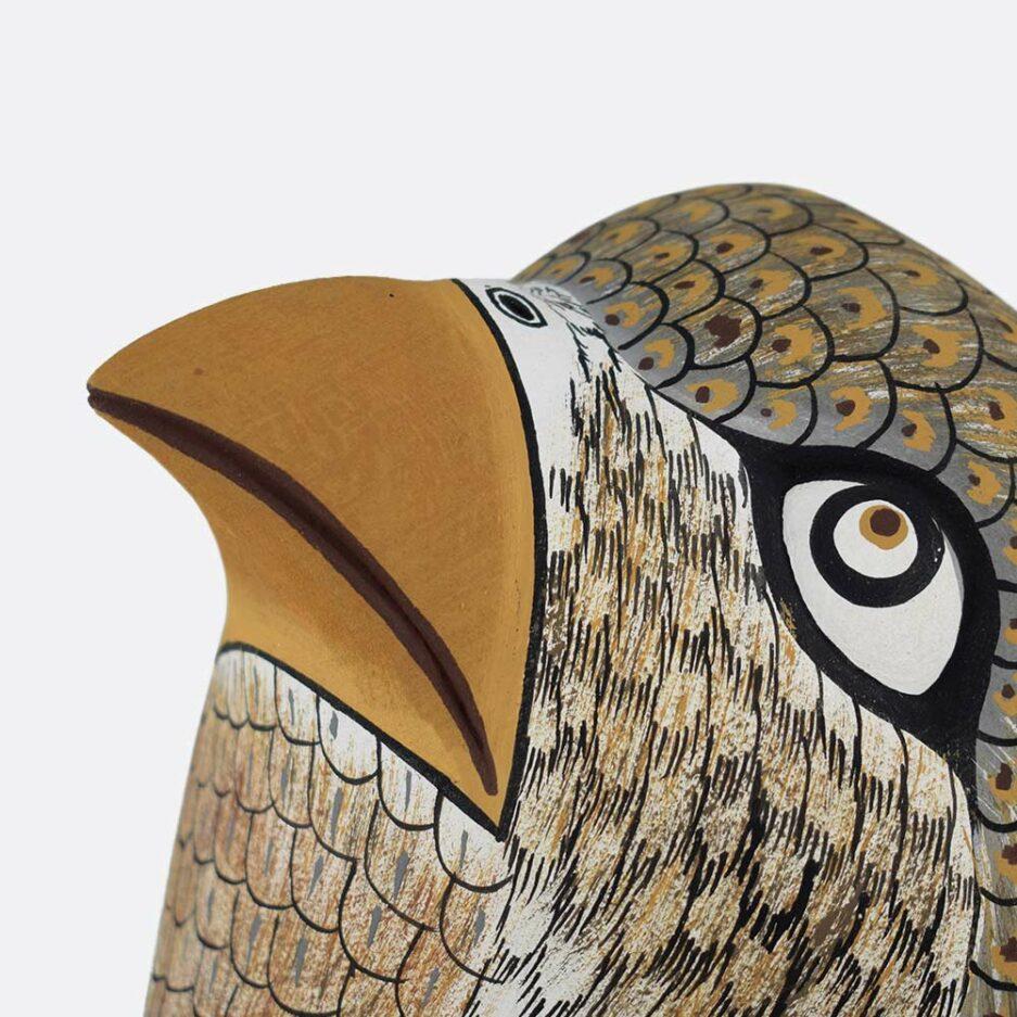 Trophée mural en bois oiseau Finca Home