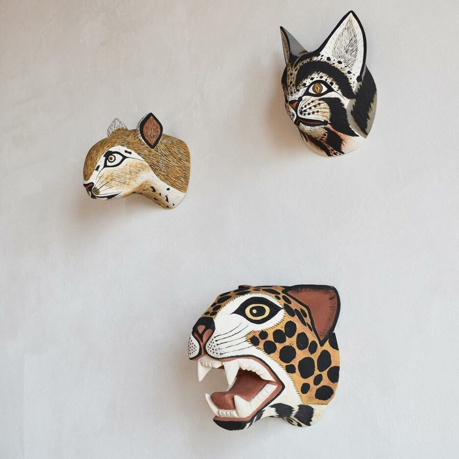 Masques animaux bois Finca Home