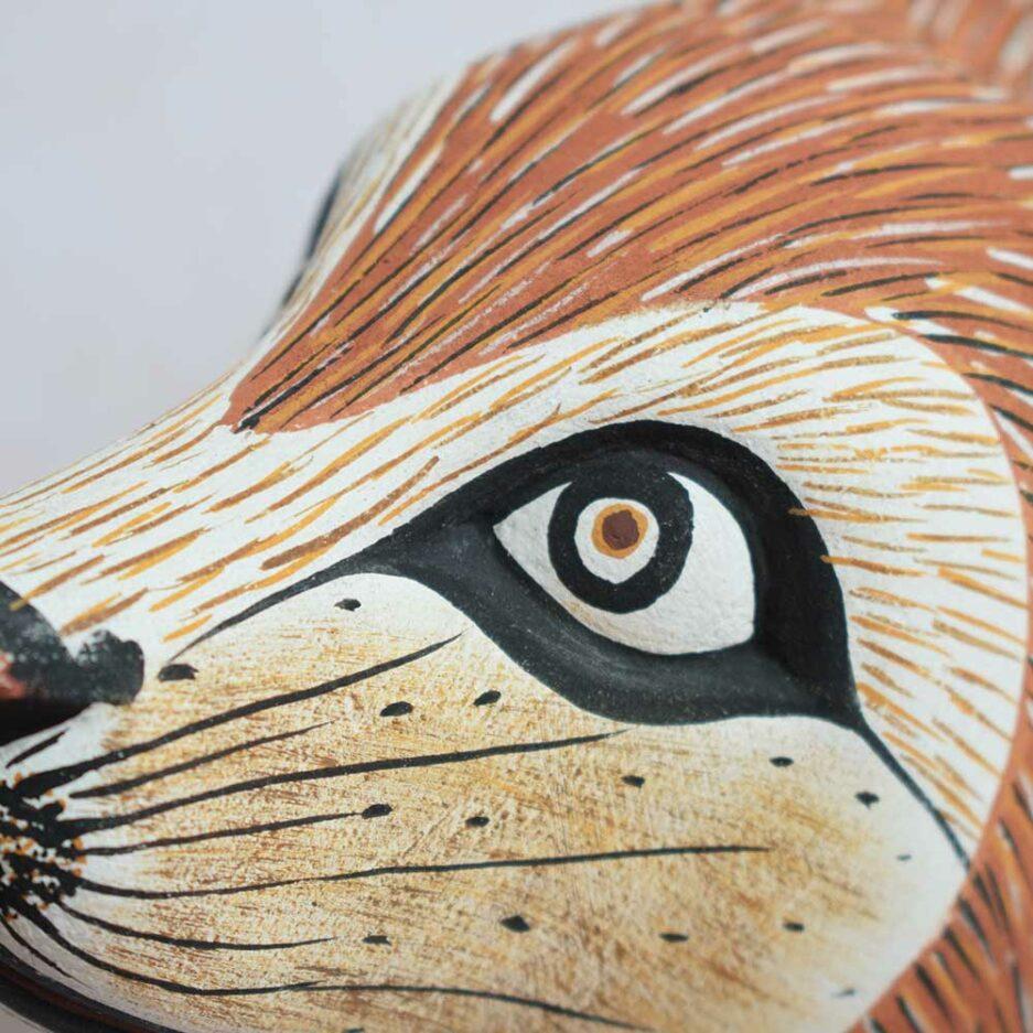 Trophée mural en bois Renard roux Finca Home