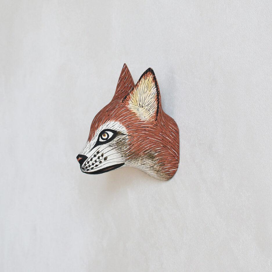 Trophée mural en bois renardeau Finca Home