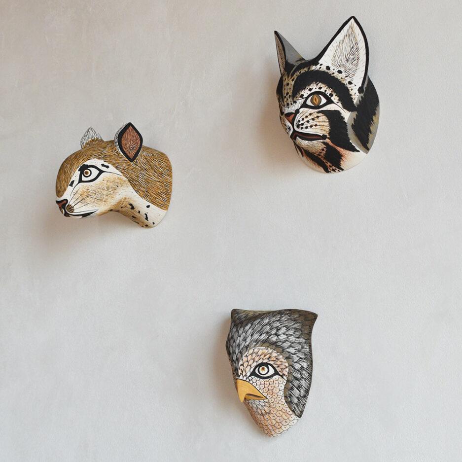 Masques déco murale en bois Finca Home