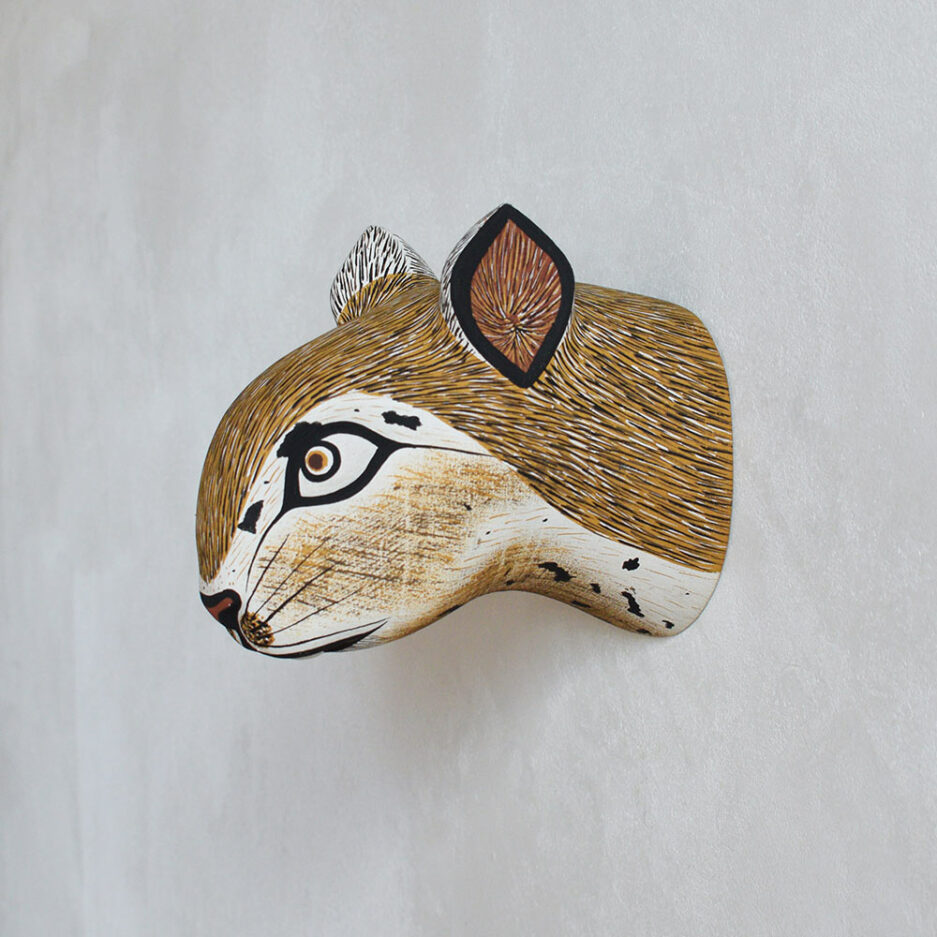 Trophée mural en bois rongeur Finca Home