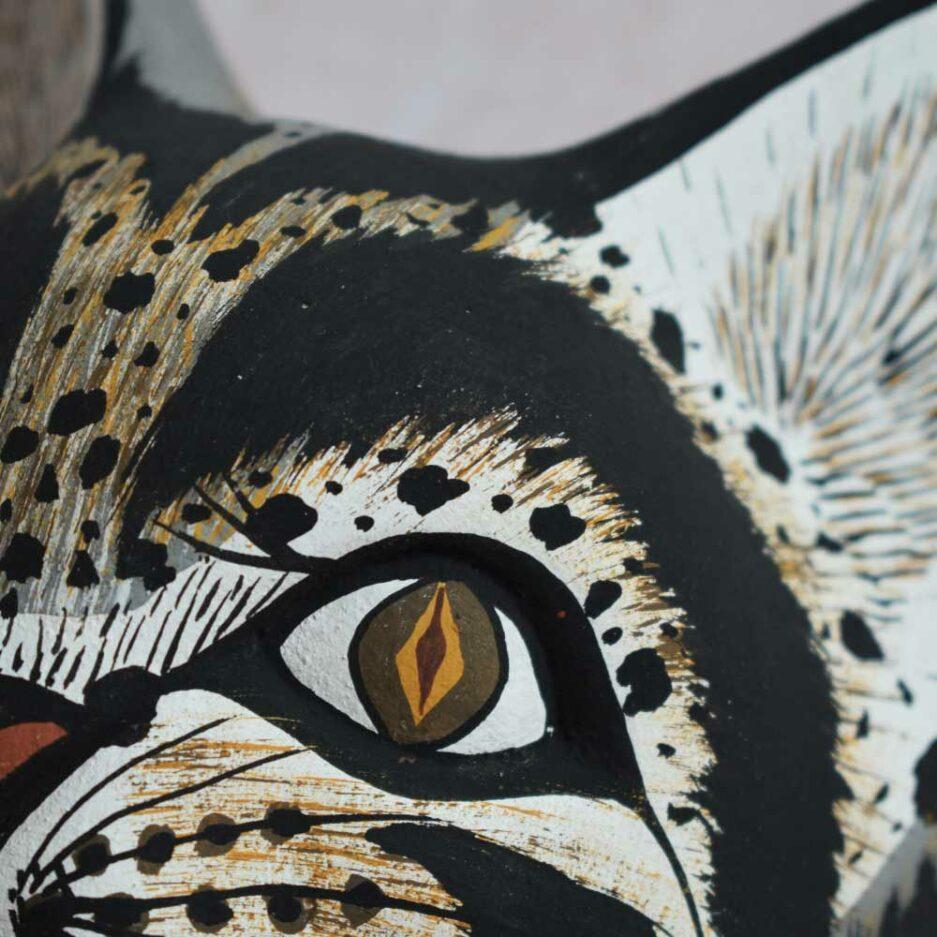 Trophée mural en bois chat Finca Home
