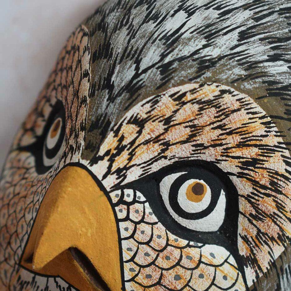 Trophée mural en bois Hibou Finca Home