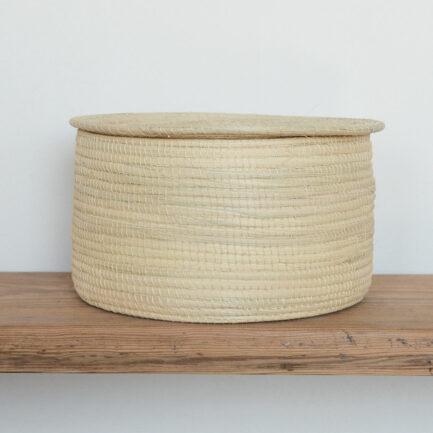Boîte avec couvercle en palmier Finca Home